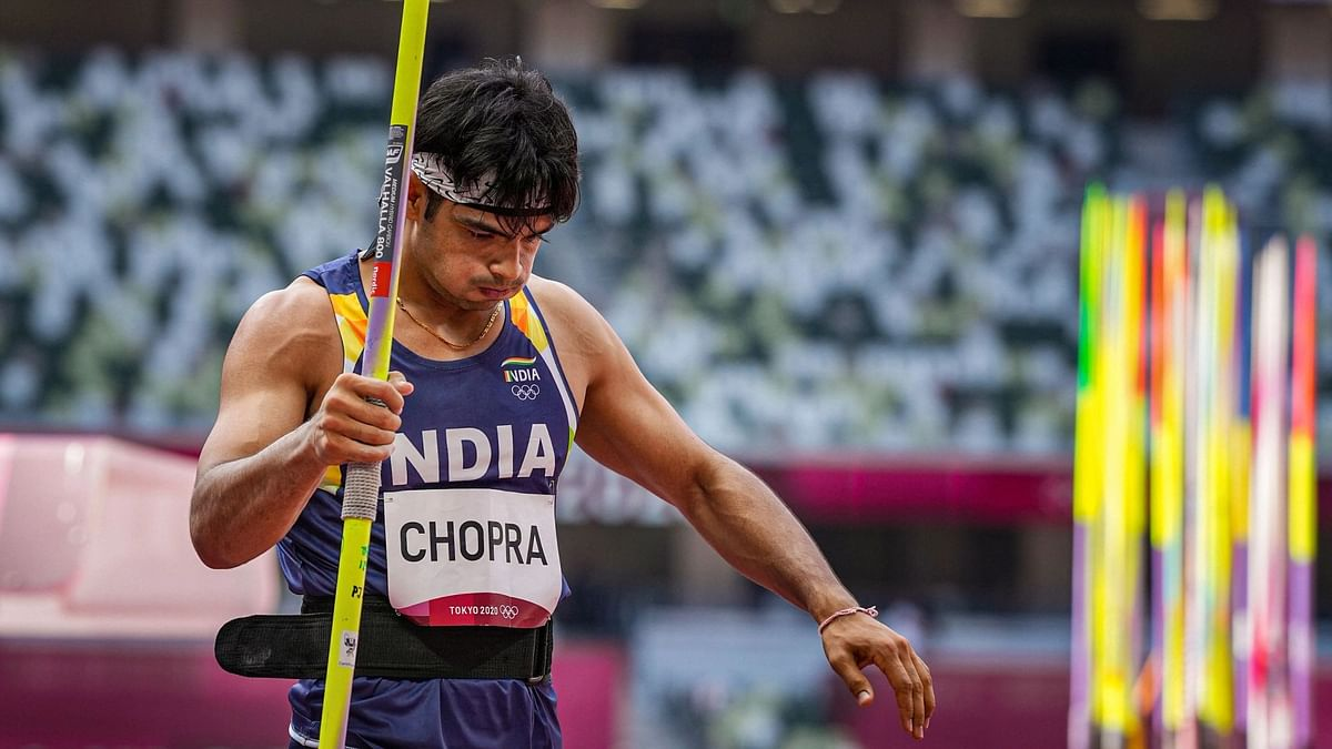 """<div class=""""paragraphs""""><p>Neeraj Chopra topped the javelin throw qualification round at Tokyo Olympics.</p></div>"""