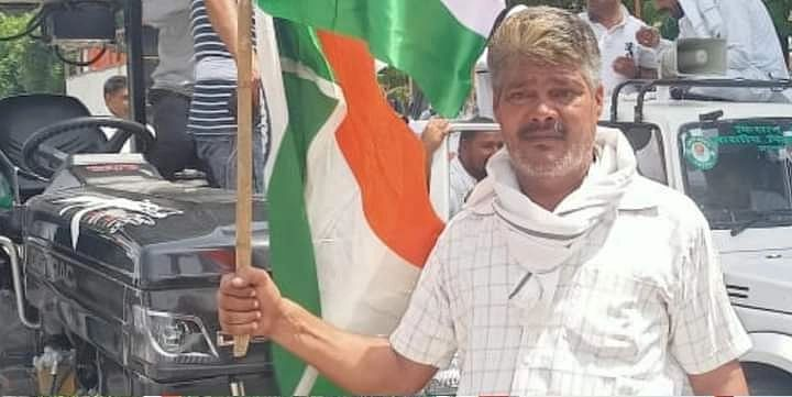 """<div class=""""paragraphs""""><p>Undated image of Sushil Kajal from a protest site.</p></div>"""