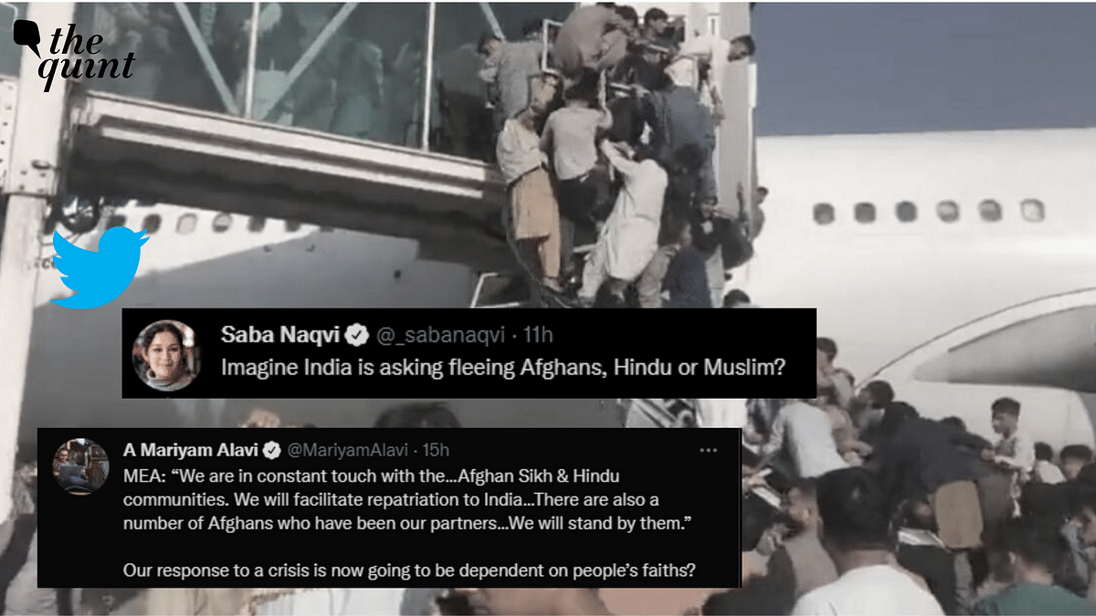 """<div class=""""paragraphs""""><p>Twitterati has reacted to <a href=""""https://www.thequint.com/news/india/india-government-mea-statement-on-afghanistan-crisis-kabul-indian-nationals-repatriation#read-more"""">a statement</a> released by the Ministry of External Affairs, which declared that India would facilitate a safe return for members of the Sikh and Hindu communities stranded in crisis-ridden Afghanistan.</p></div>"""