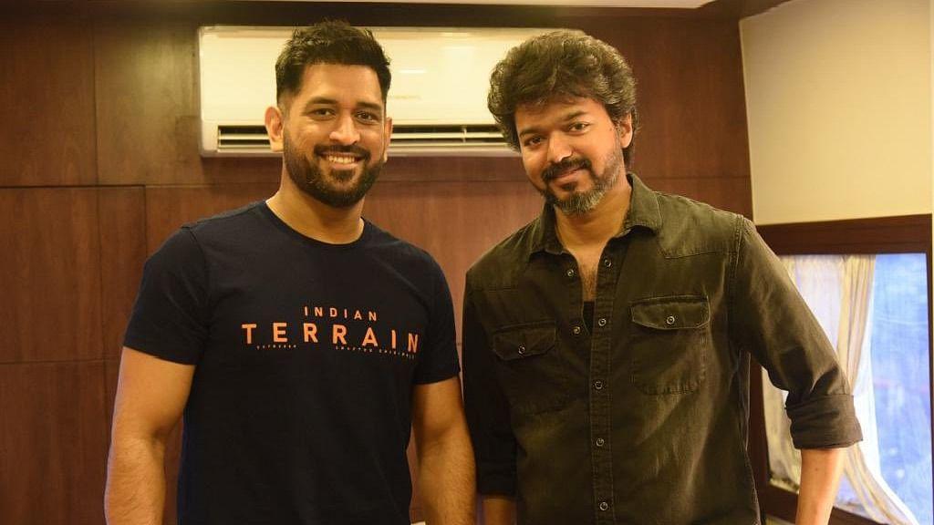 MS Dhoni Meets Thalapathy Vijay in Chennai; Fans React