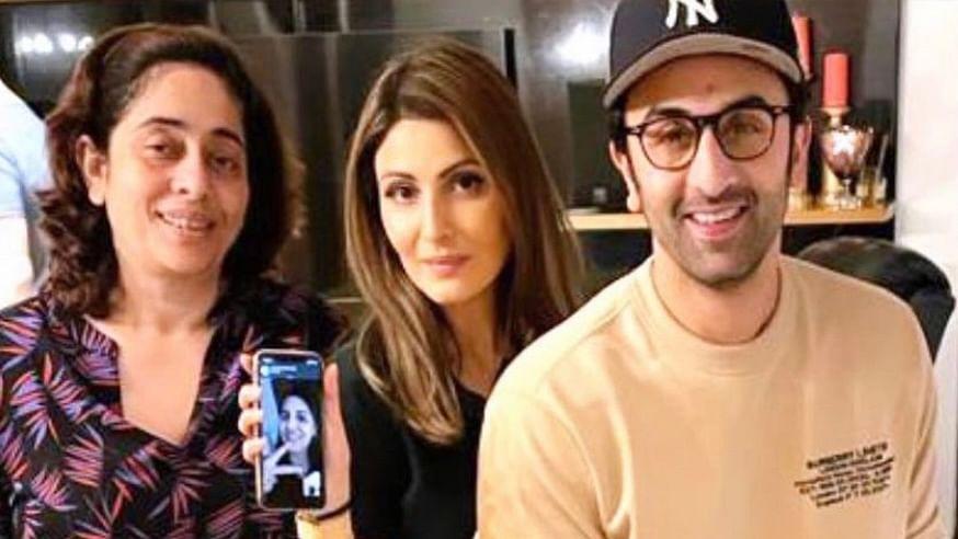 Pic: Ranbir Kapoor's Pre-Rakhi Dinner With Sisters Riddhima & Natasha Nanda