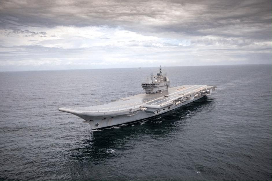 """<div class=""""paragraphs""""><p>IAC1 at sea during maiden sea trials.</p></div>"""