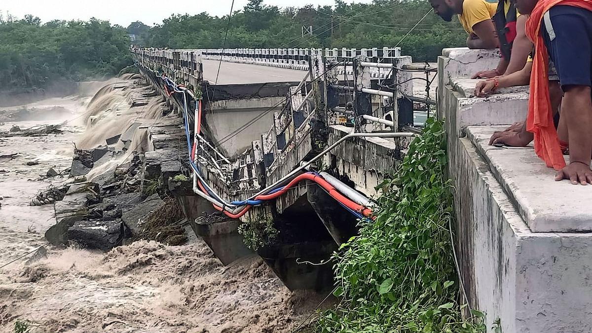 Uttarakhand Rains: Bridge on Dehradun-Rishikesh Highway Collapses, No Casualties