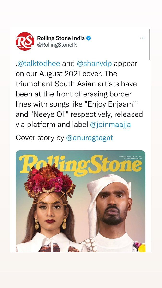 """<div class=""""paragraphs""""><p>Tamil filmmaker Pa Ranjith recently took to Twitter to question why the <em>Rolling Stone </em>magazine cover did not feature rapper Arivu.</p></div>"""