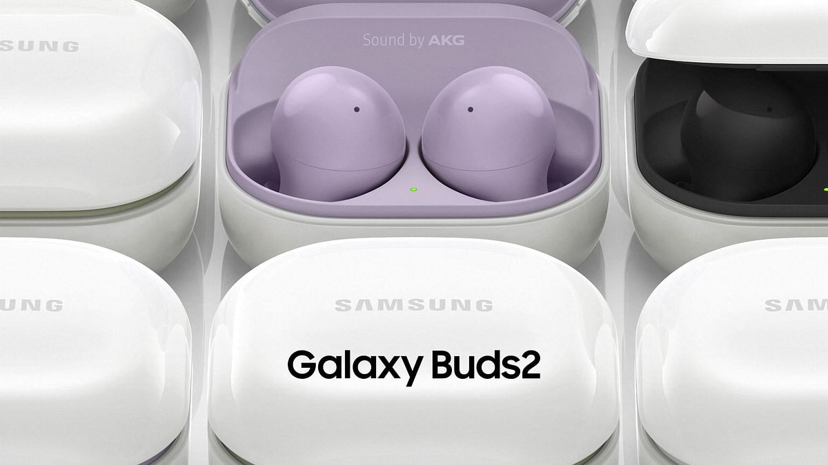 """<div class=""""paragraphs""""><p>Galaxy Buds2 are Samsung's smallest and lightest earbuds yet boasting an iconic curved shape.</p></div>"""