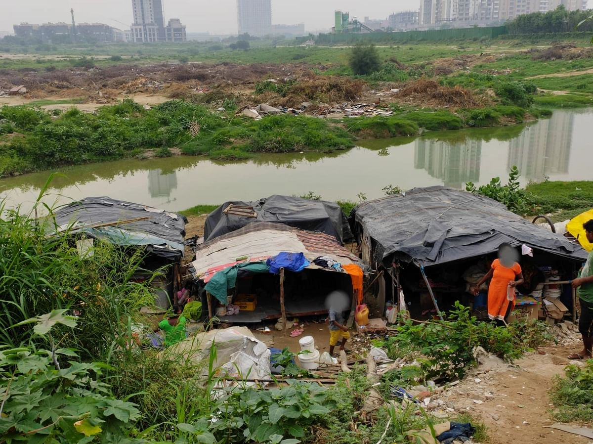 """<div class=""""paragraphs""""><p>Water gets clogged under their tents, making it uninhabitable.</p></div>"""