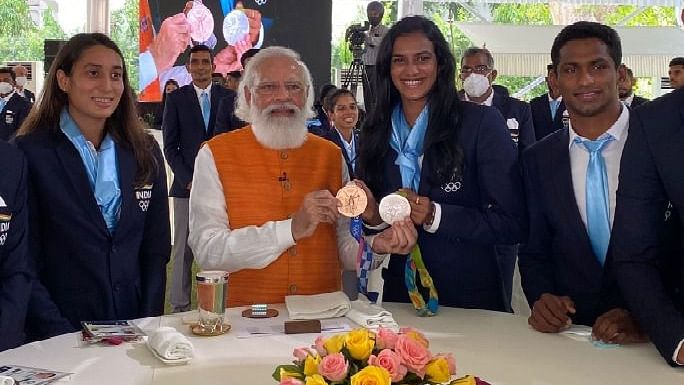 Photos: PM Modi Hosts India's Olympic Stars For Breakfast