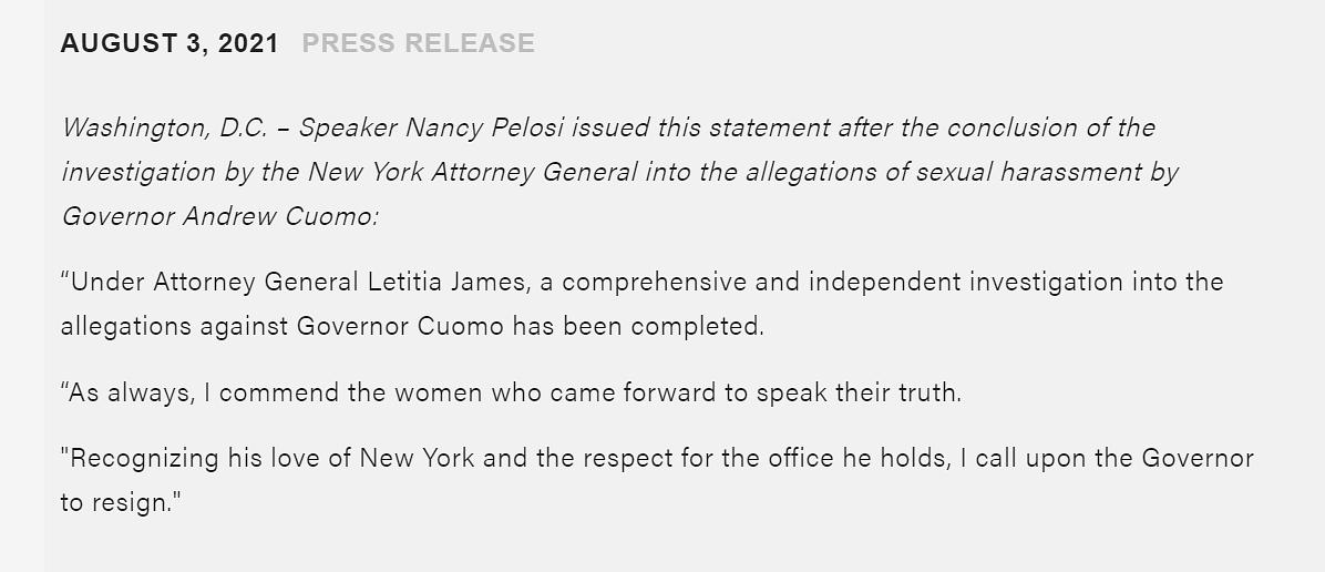 "<div class=""paragraphs""><p>Official statement by&nbsp;US House speaker Nancy Pelosi.</p></div>"