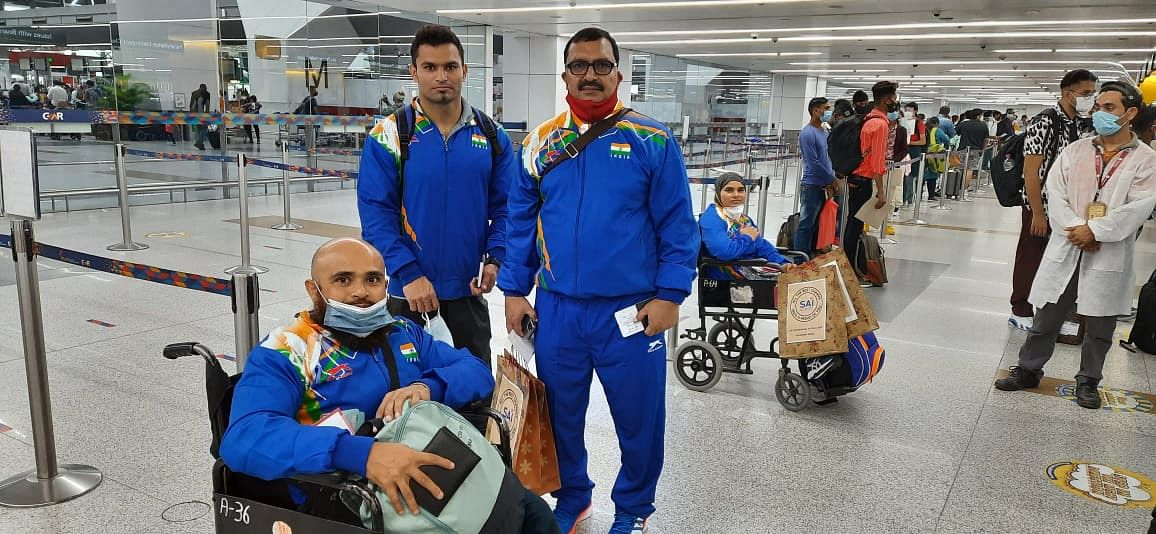 Indian Powerlifters Depart for Tokyo Paralympic Games