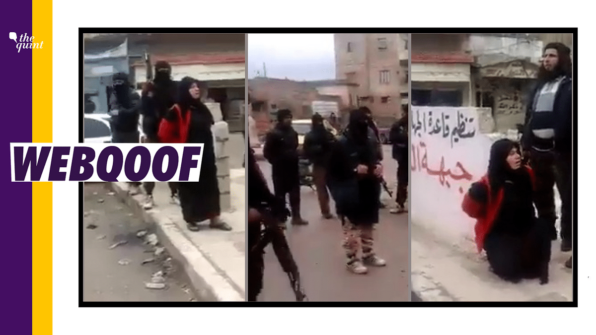 """<div class=""""paragraphs""""><p>The clip does not show Taliban executing an Afghan woman. It is a 2015 clip from Syria.</p></div>"""