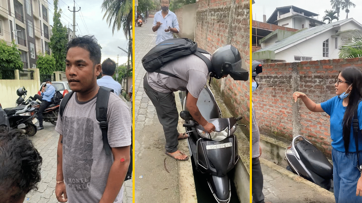 Watch: Guwahati Woman Catches Man Who Groped Her, Pushes His Bike in the Drain