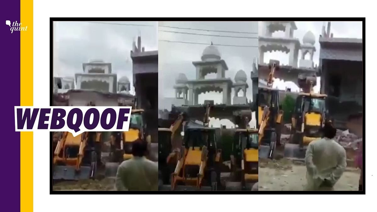 No, Viral Video Doesn't Show Mosque Being Demolished in UP's Unnao
