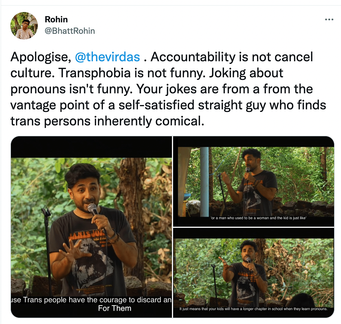 Joking About Pronouns Not Funny: Vir Das Called Out For Transphobia