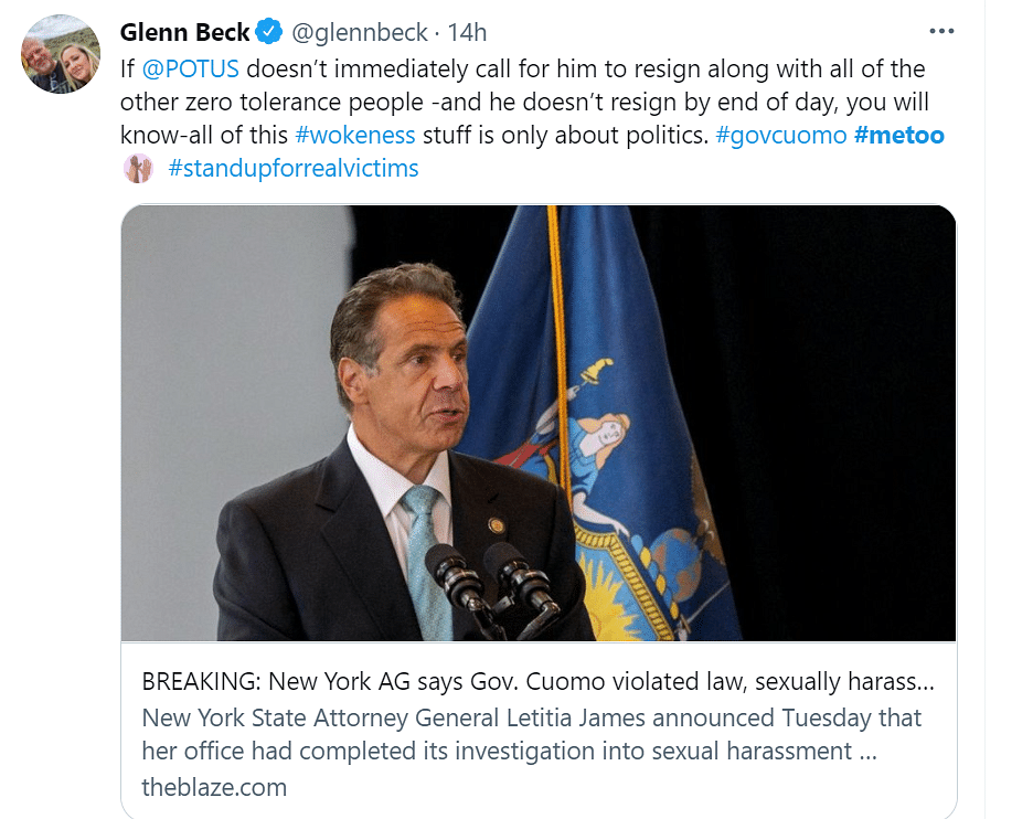 "<div class=""paragraphs""><p>American  commentator Glenn Beck via Twitter.</p></div>"