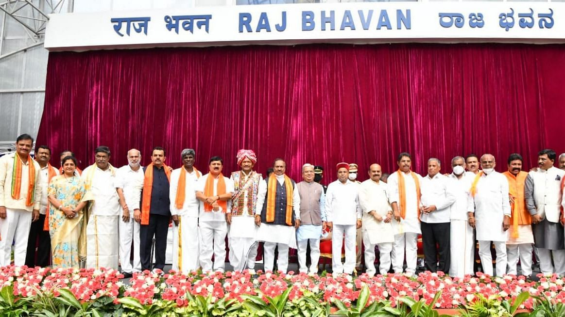 """<div class=""""paragraphs""""><p>As many as 29 ministers were sworn in on 4 August to Karnataka Chief Minister Basavaraj Bommai's cabinet.</p></div>"""