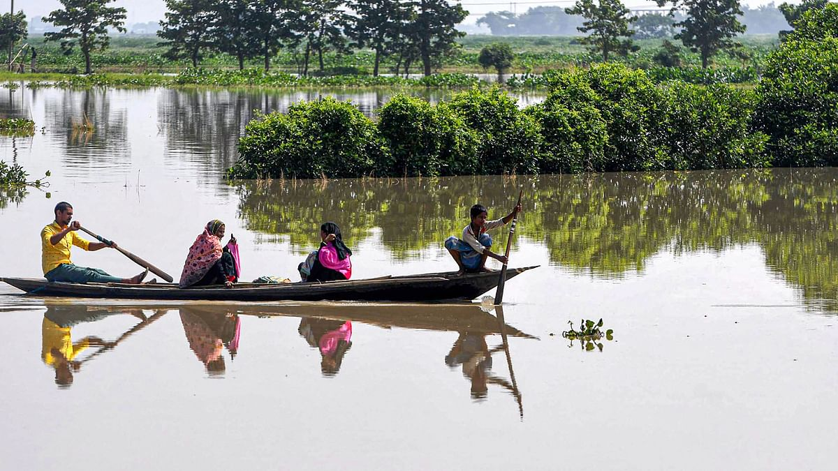 21 Out of 34 Districts in Assam Affected by Floods, 2 Children Dead