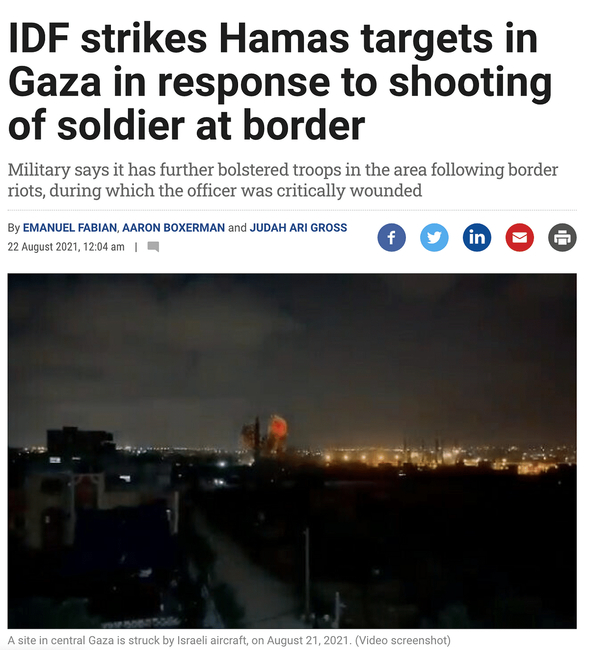 """<div class=""""paragraphs""""><p>Screengrab from the Times of Israel.</p></div>"""