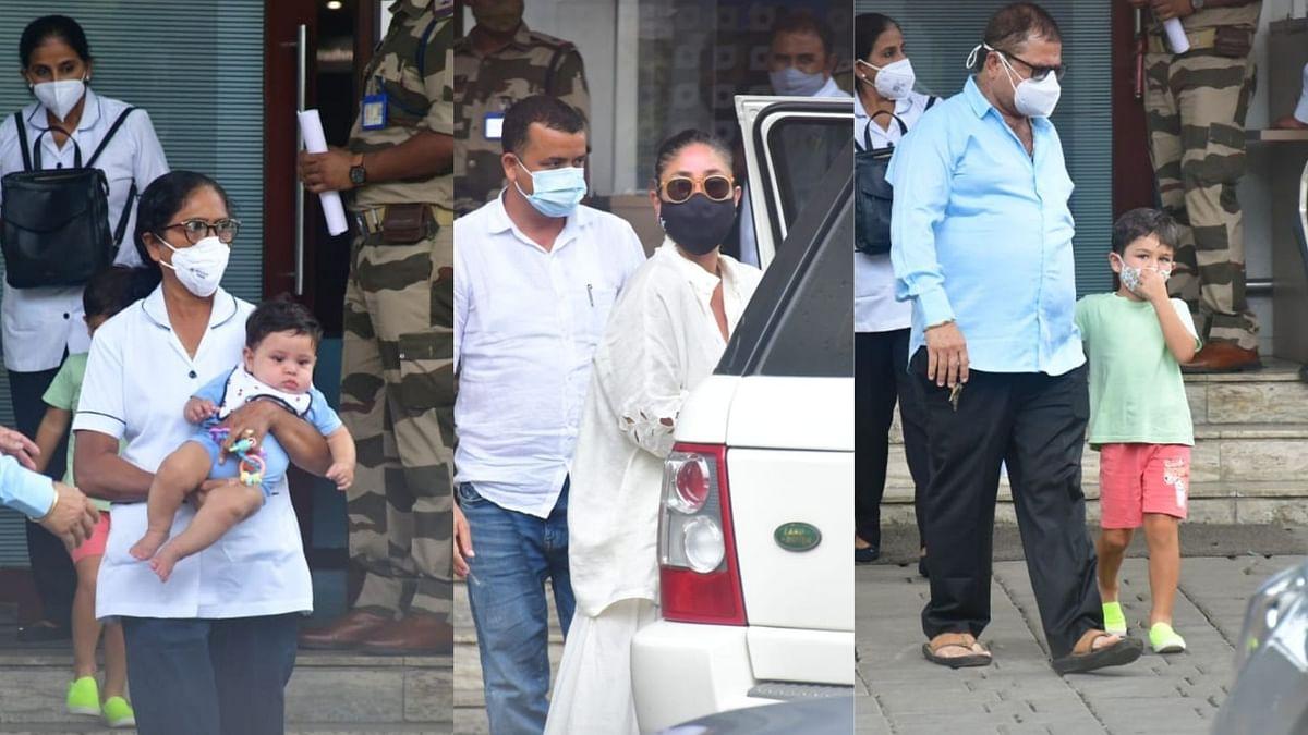 In Pics: Saif, Kareena, Taimur, Jeh In Mumbai After Maldives Holiday