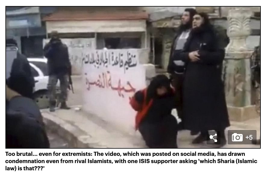 """<div class=""""paragraphs""""><p>The report carried stills from the graphic video.</p></div>"""