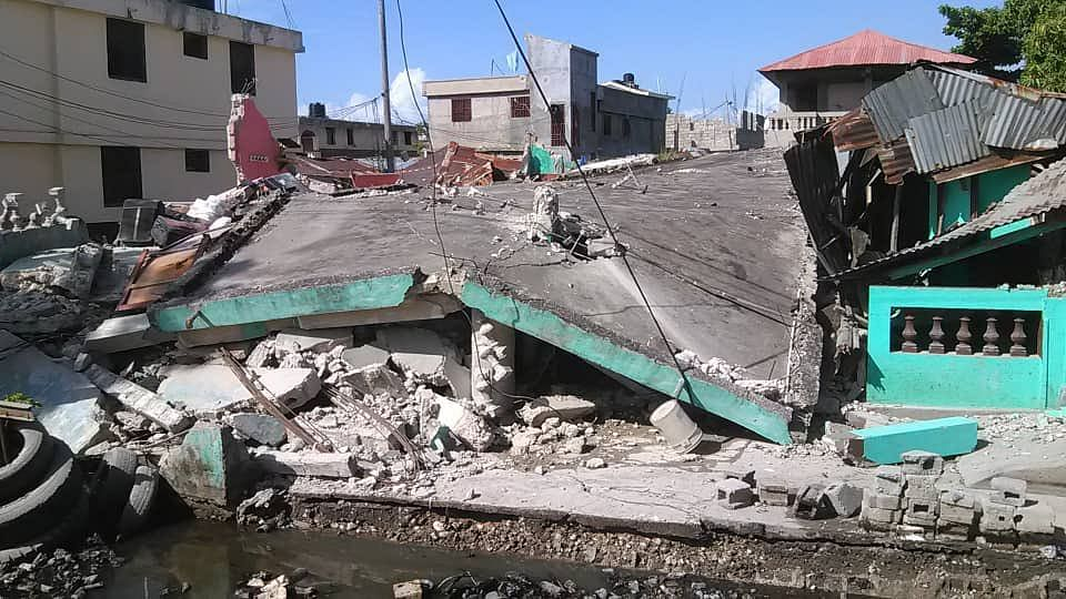 """<div class=""""paragraphs""""><p>The epicentre of the earthquake was located about 160 kilometres from the densely populated capital of Port-au-Prince.</p></div>"""