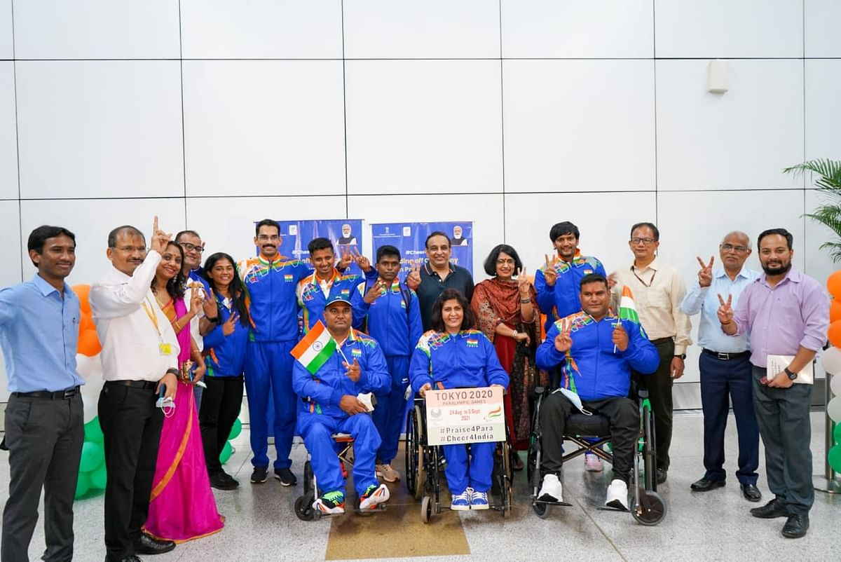 Photos: First Indian Paralympic Contingent Leaves For Tokyo Ahead of the Games