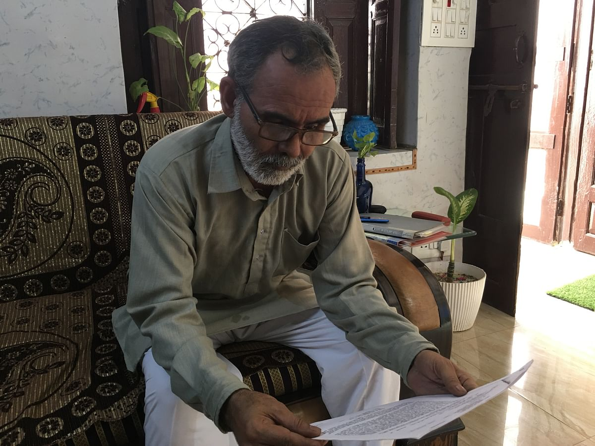 "<div class=""paragraphs""><p>Narendra Singh Fauji at his residence in Baprola.</p></div>"