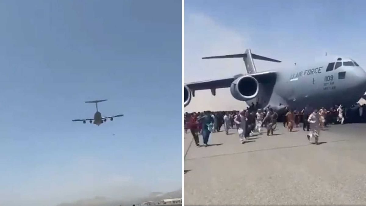 Kabul: Video Shows People Falling to Death After Clinging on to Aircraft