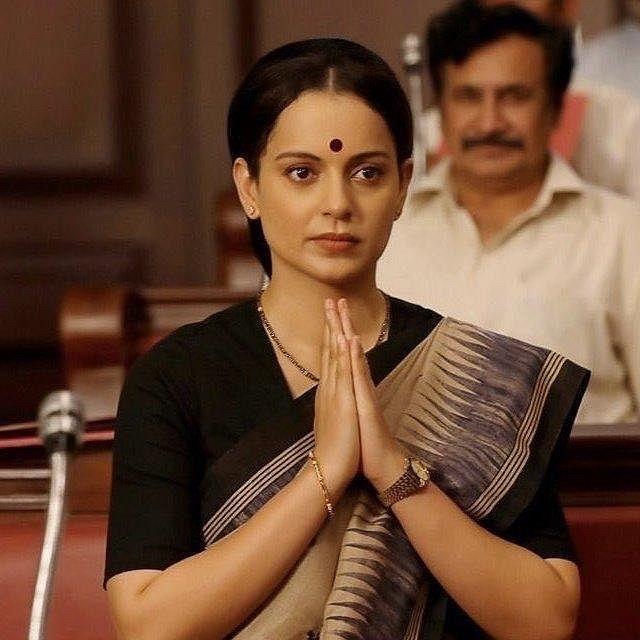 """<div class=""""paragraphs""""><p>Kangana Ranaut in <em>Thalaivii</em>.</p></div>"""