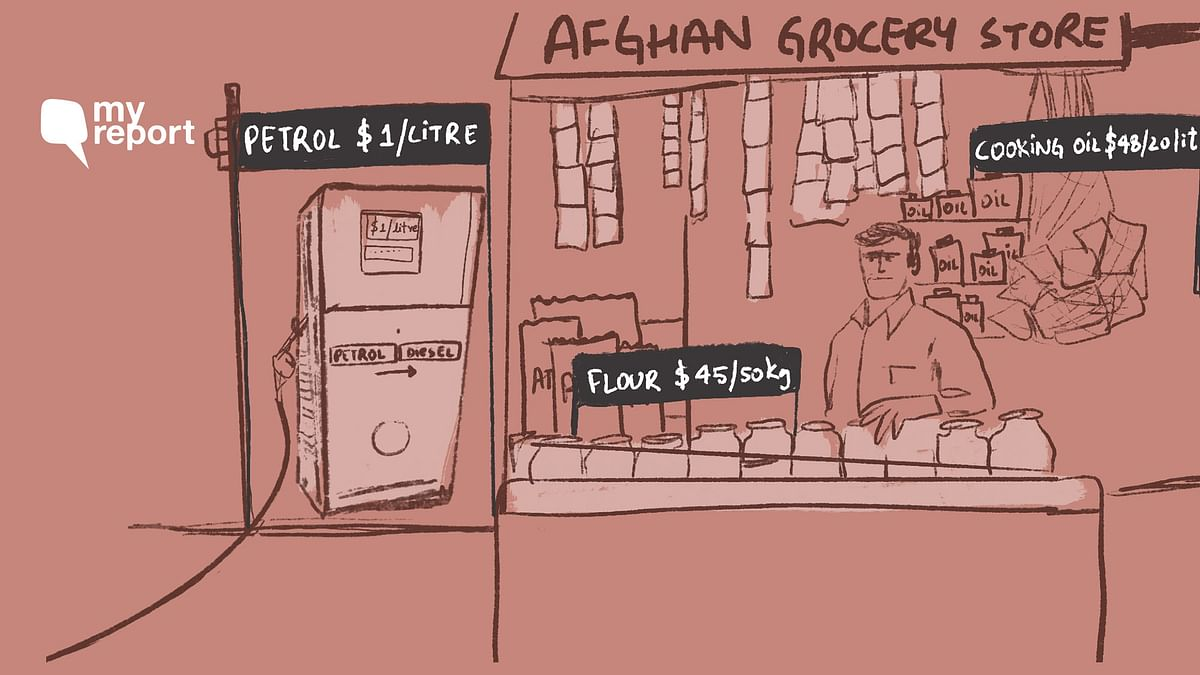 """<div class=""""paragraphs""""><p>A professor at a university in Afghanistan talks about soaring prices of essential commodities.</p></div>"""