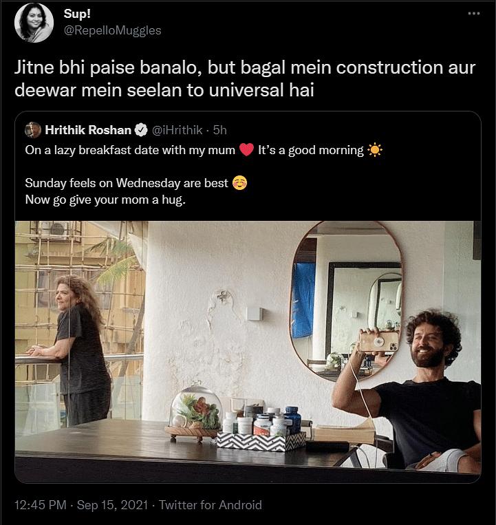 Just Mumbai Homes: Twitter Unites Over 'Seelan' on Hrithik Roshan's Wall