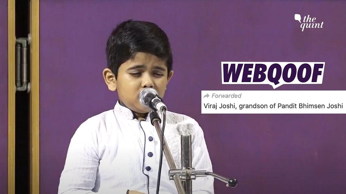 Child Singing in Video Misidentified as Grandson of Pandit Bhimsen Joshi