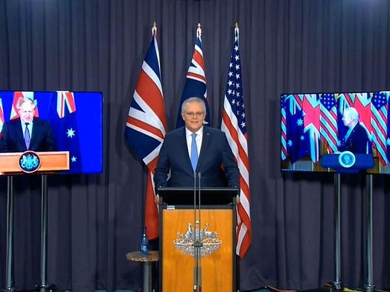 """<div class=""""paragraphs""""><p>Australia begins an enhanced trilateral security partnership with the UK and the US to enable deeper cooperation on Thursday.</p></div>"""