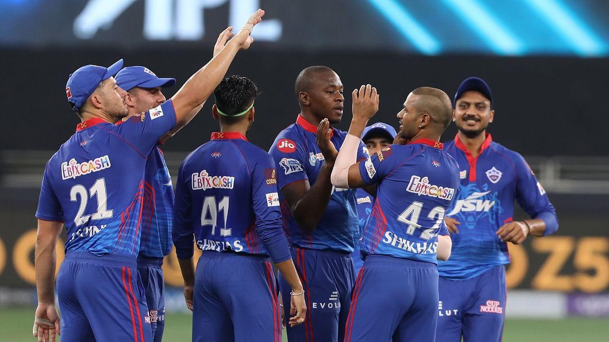 "<div class=""paragraphs""><p>Delhi Capitals celebrate a Sunrisers Hyderabad wicket.</p></div>"
