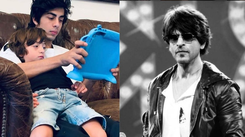 "<div class=""paragraphs""><p>Shah Rukh Khan reacts to AbRam and Aryan Khan's 'boys' night out'.</p></div>"