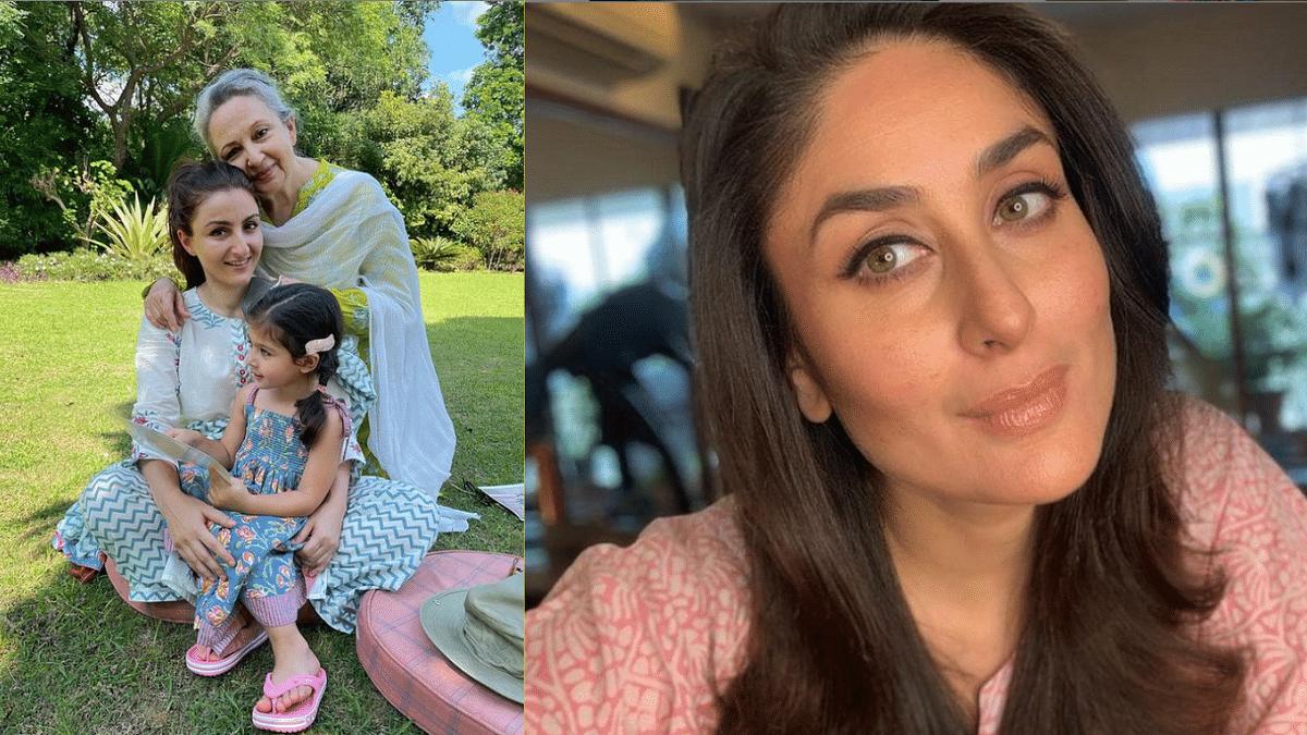 "<div class=""paragraphs""><p>Soha Ali Khan with her mother Sharmila Tagore and daughter Inaaya; Kareena Kapoor Khan.</p></div>"