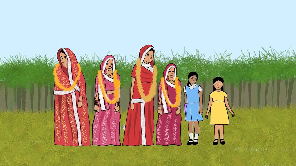 "<div class=""paragraphs""><p>Shikha has 5 sisters. Her three elder sisters were all child brides.&nbsp;</p></div>"