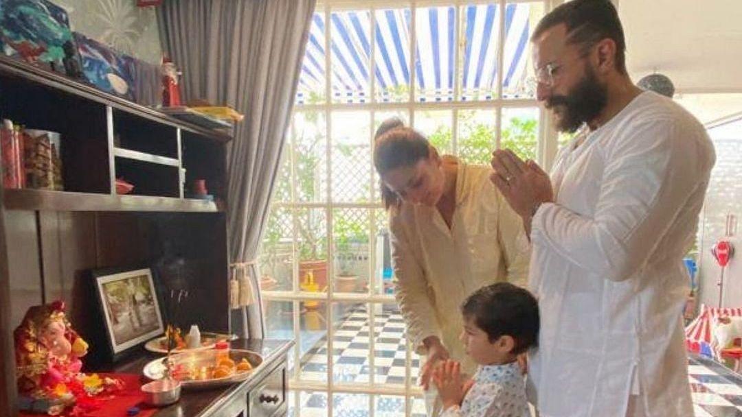 Here's How Kareena, Saif Ali Khan, Taimur Are Celebrating Ganesh Chaturthi
