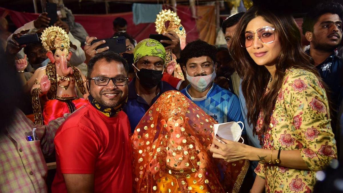 Pics: Ahead of Ganesh Chaturthi, Shilpa Shetty Brings Ganpati Home