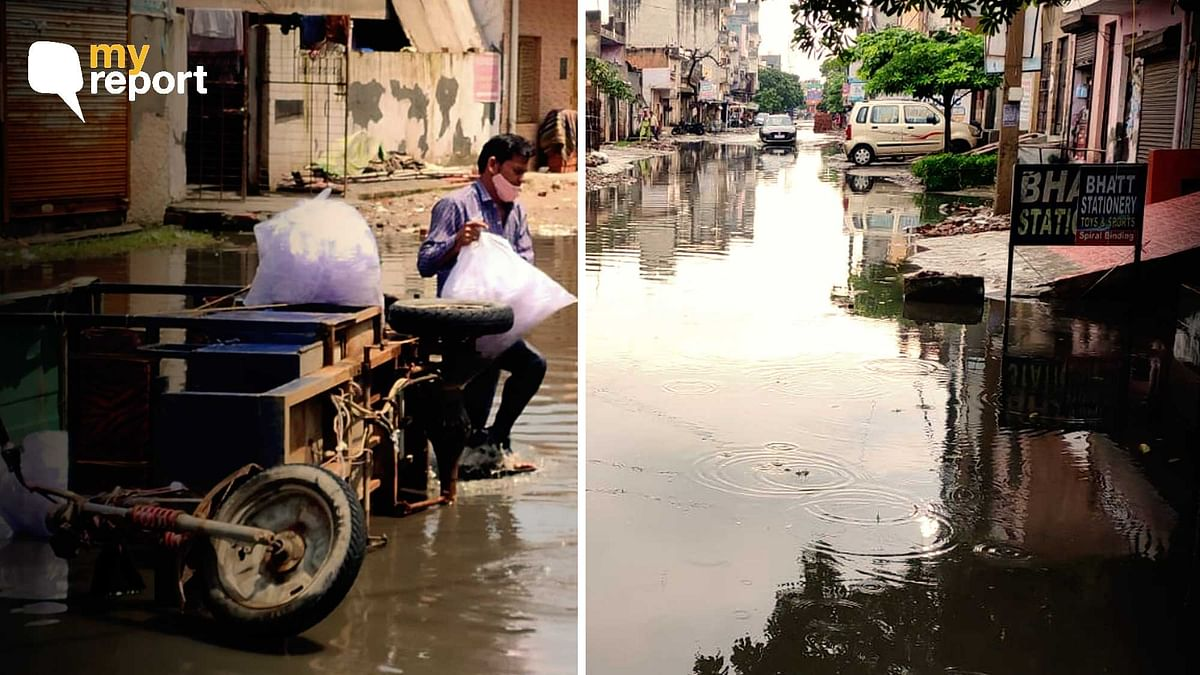 Even After 24 Hrs, Waterlogged Roads Near My Shop in Ghaziabad's Loni