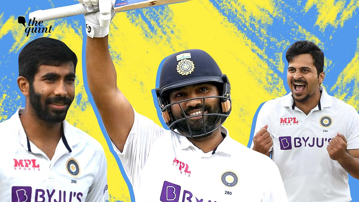 """<div class=""""paragraphs""""><p>India registered a thumping win at The Oval with some fine performances from Jasprit Bumrah, Rohit Sharma and Shardul Thakur.</p></div>"""