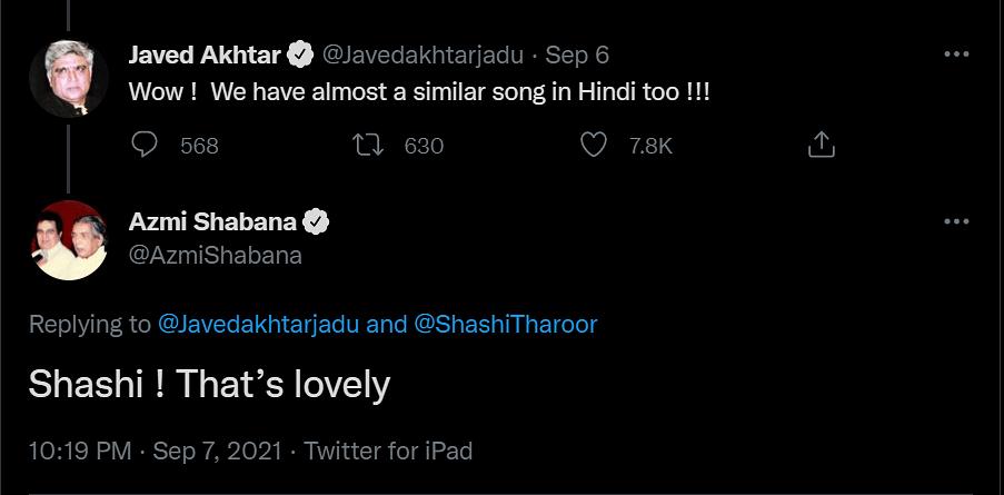 Shabana Azmi Defends Javed Akhtar's Reaction to Shashi Tharoor's Singing