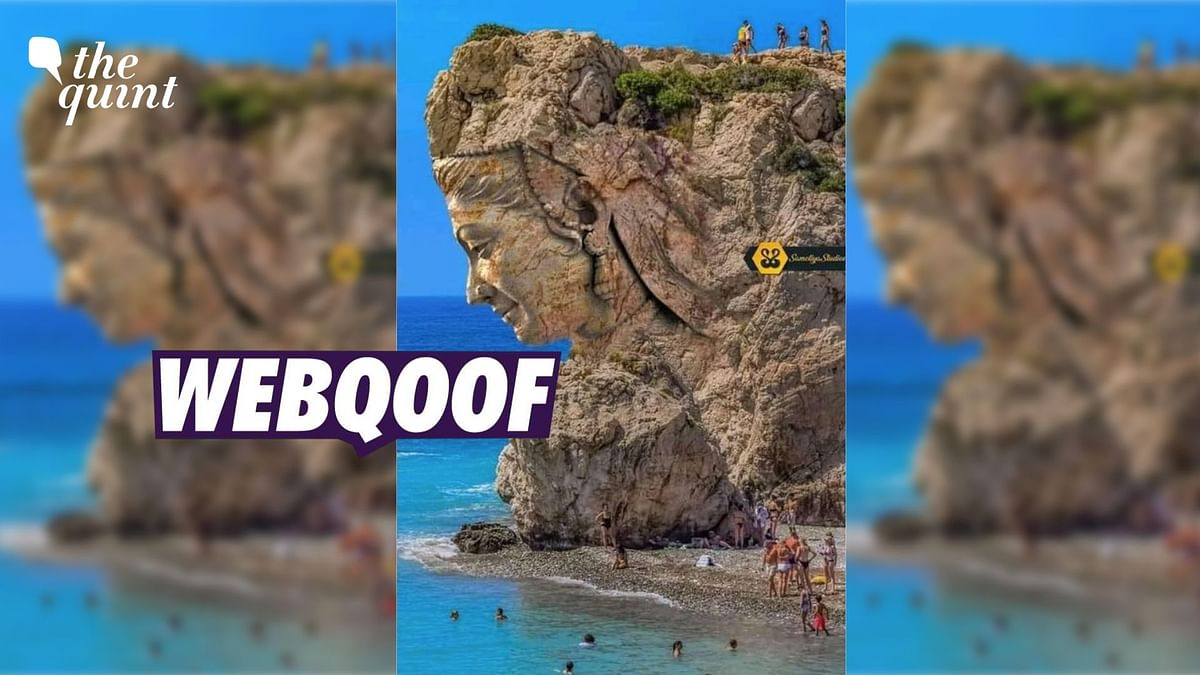 """<div class=""""paragraphs""""><p>An altered photo of Aphrodite's Rock in Cyprus was shared to falsely claim that it showed 'nature's art.'</p></div>"""