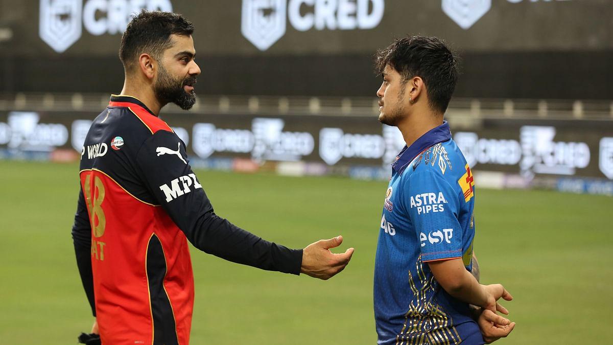 "<div class=""paragraphs""><p>Virat Kohli and Ishan Kishan speaking after the game on Sunday.&nbsp;</p></div>"