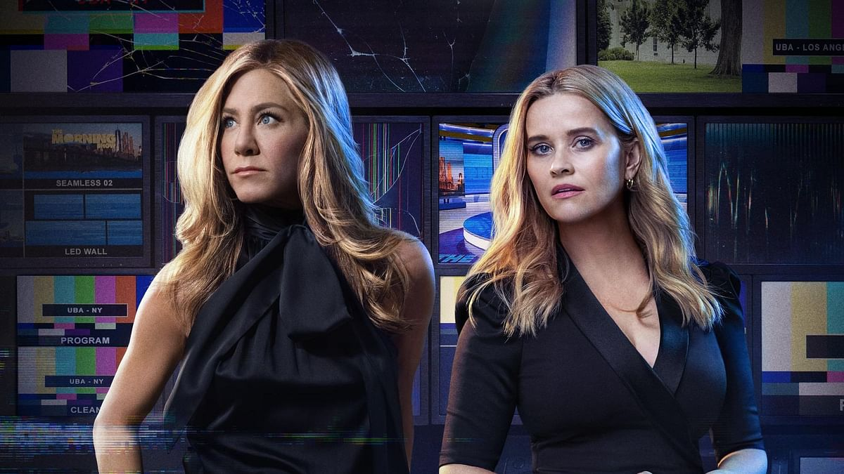 """<div class=""""paragraphs""""><p>Jennifer Aniston and Reese Witherspoon as Alex Levy and Bradley Jackson in&nbsp;<em>The Morning Show 2.</em></p></div>"""