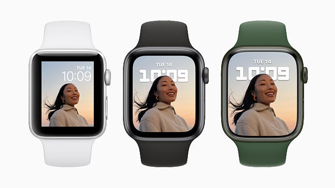 """<div class=""""paragraphs""""><p>Apple Watch Series 7 provides all-day 18-hour battery life on a single charge</p></div>"""