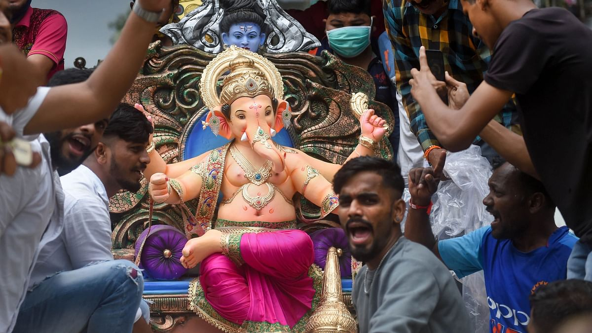 In Photos: India Celebrates First Day of Ganesh Chaturthi