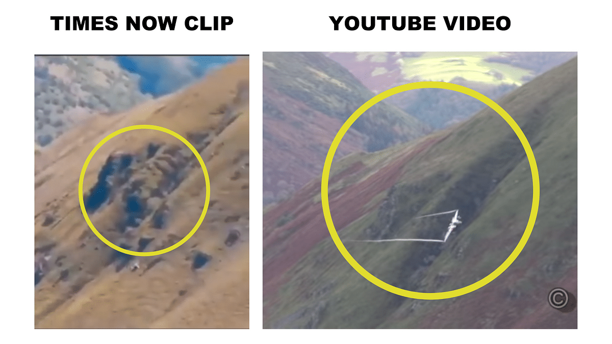 Times Now Airs Clip From Wales As 'Pakistani Jets Over Panjshir'