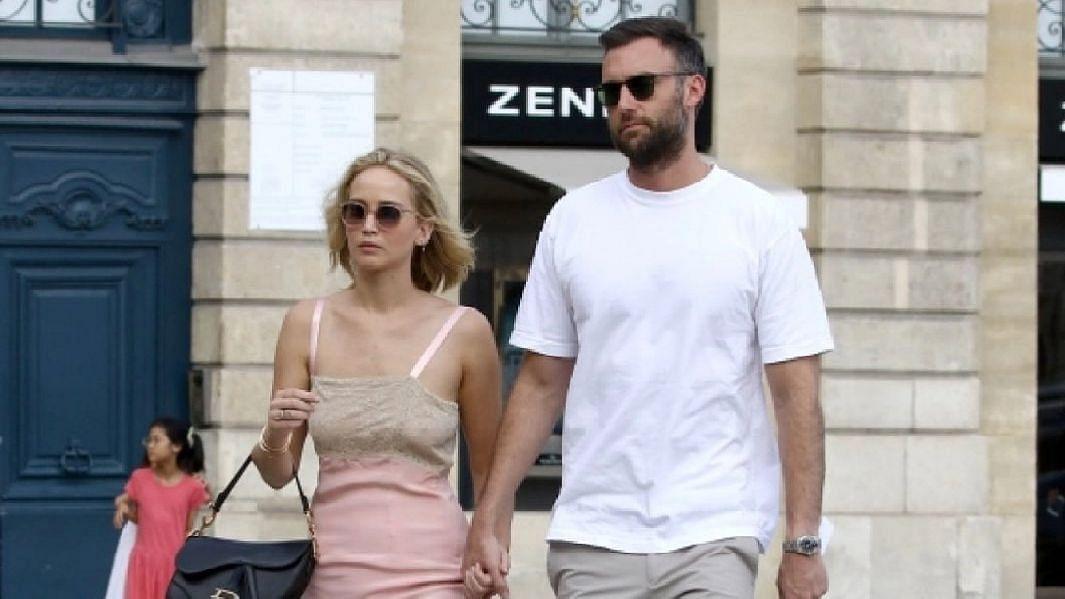 "<div class=""paragraphs""><p>Jennifer Lawrence and husband Cooke Maroney.</p></div>"