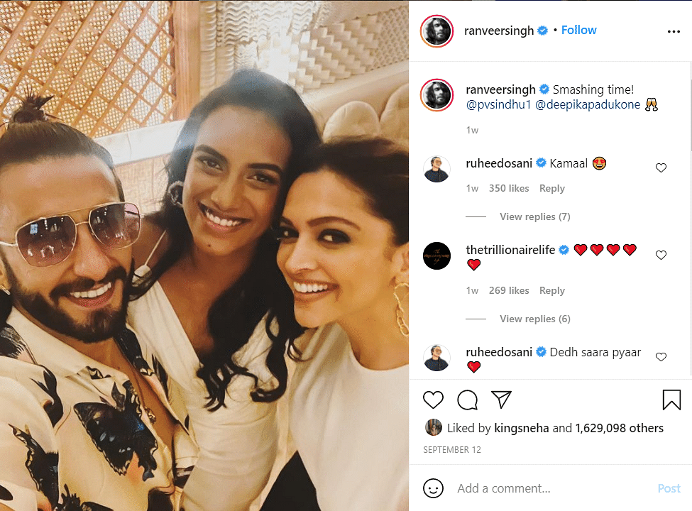 A Badminton Session With PV Sindhu Is Part of Deepika Padukone's 'Regular Day'