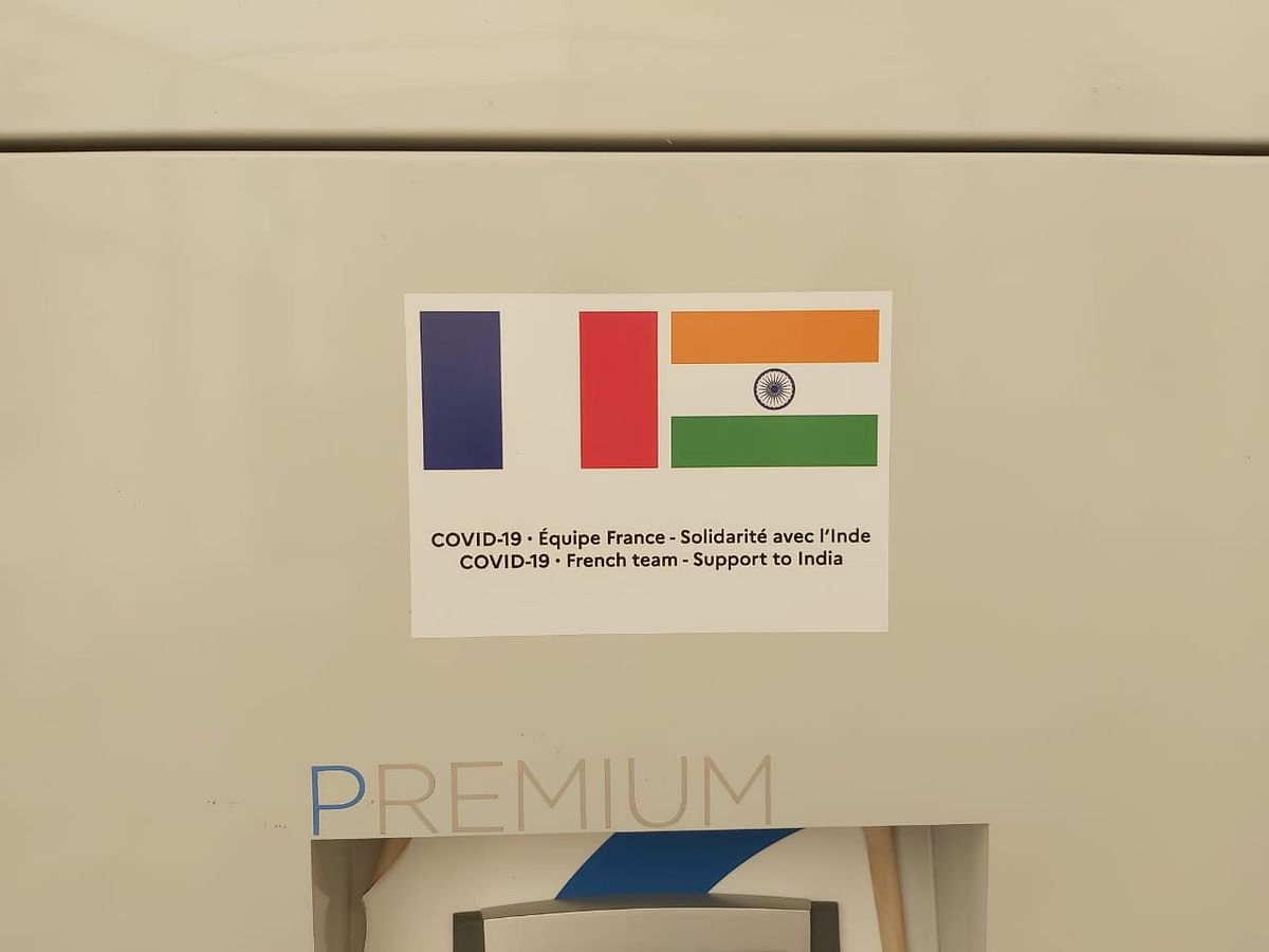"""<div class=""""paragraphs""""><p>330 LPM PSA Oxygen plant donated by France to India. It is installed and operational at Raja Harish Chandra Hospital.</p></div>"""